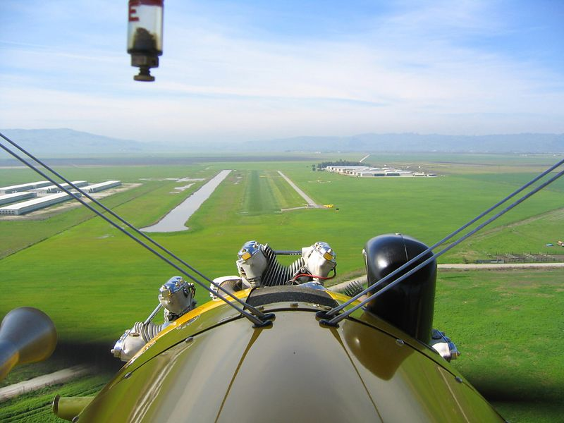 Short final to Frazier Lake (1C9) runway 23 in Stearman N54173.