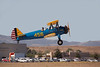 Stearman N68837 taking off from Hollister (KCVH)