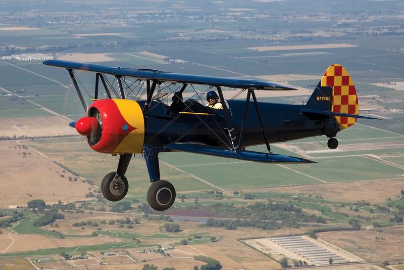 Stearman over California's San Joaquin valley