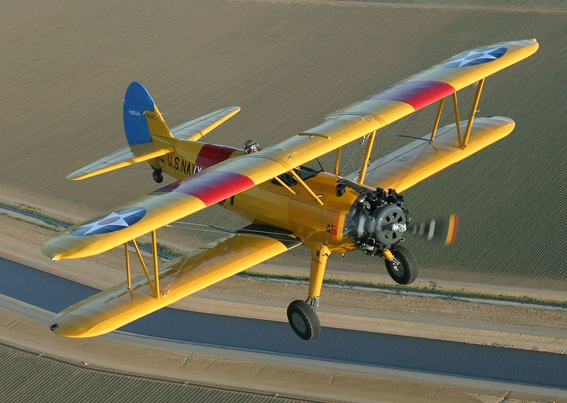 Ernie of Vintage Wings & Wheels, Hollister California, in his Stearman, N2457.
