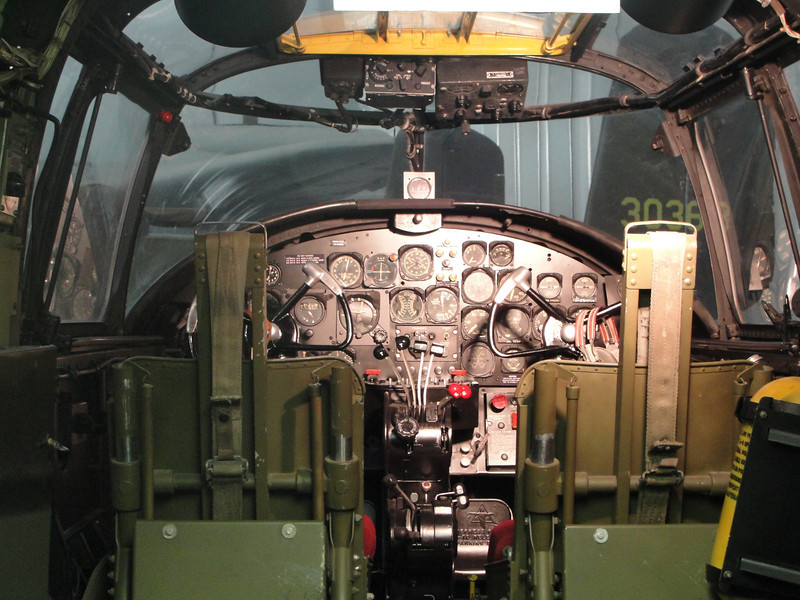 Front office of the TB-25 cutaway.