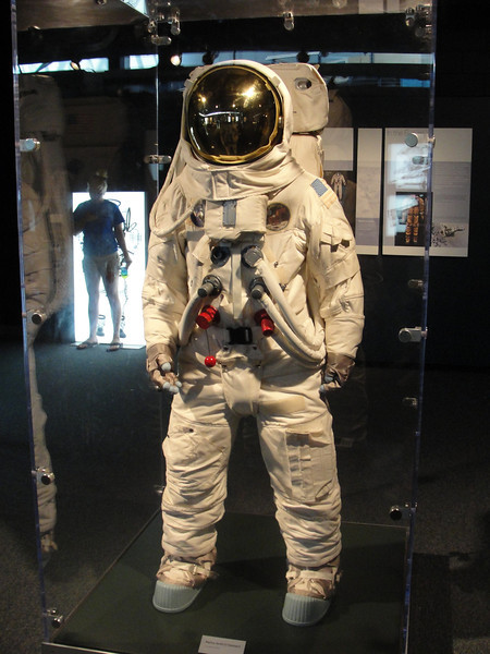 A current rotating exhibit is about spacesuits.  Most of the ones on display are training suits.