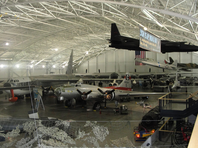 Even though it's parked in the back, the B-36 still dominates the gallery!