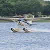 Cessna 185 on PK Amphibs on Lake Agnes.