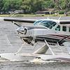 Cessna Caravan on Wipline 8750 amphibs on Lake Agnes.