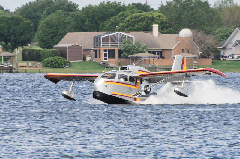 Republic Super Seabee on Lake Agnes.