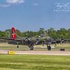 "B-17 ""Texas Raiders"" on Takeoff Roll at Sun 'n Fun 2018, Lakeland, Florida"