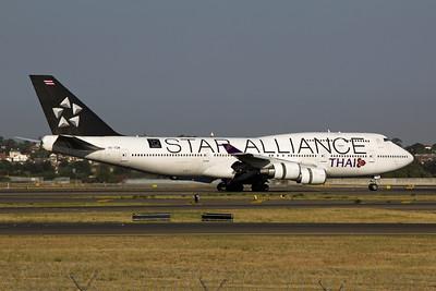 HS-TGW Thai International Boeing 747-400 Star Alliance