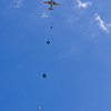 Static Line Parachute Drop From 1500 Feet