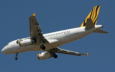 9V-TRB TIGERAIR A319 going into storage in Alice Springs