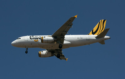 9V-TRB TIGERAIR A319 going into storage in Alice Spring