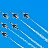 Full Squadron of USAF Thunderbird F-16s