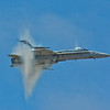 "F-14 Tomcat at 99% of Speed of Sound creating the ""Angel Dust"""