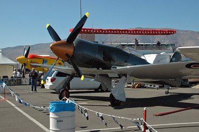 Couple of unlimited gold class racers (Hawker Sea Furies).