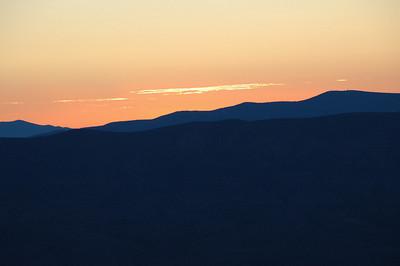 Dawn at Monitor Pass.