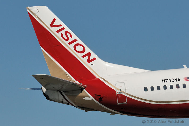 Vision B737 flying into Miami from Cuba