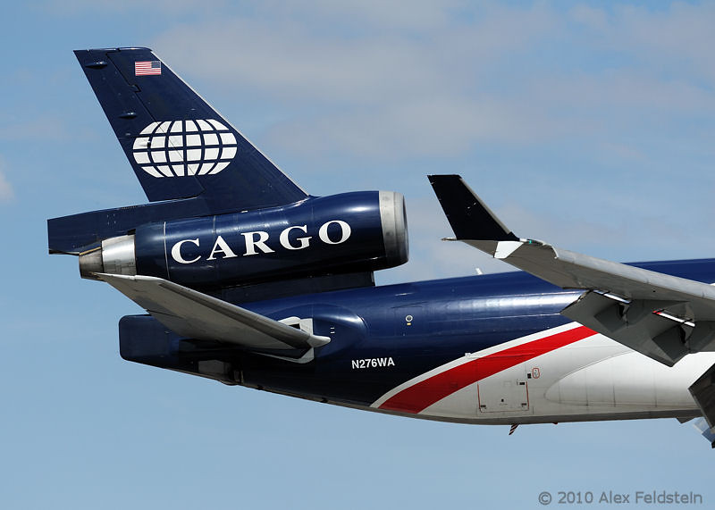 World Airways MD11F Cargo landing in Miami.