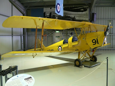 De havilland tiger Moth, during WW2 when Temora was a training base there were 90 odd Tigers operating here.
