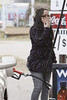 "EXCLUSIVE TO INF. ALL-ROUNDER.<br /> January 24, 2010: ""Teen Mom 2"" star, Jenelle Evans, breaks the law and puts herself in danger by smoking a cigarette while pumping gas at a North Carolina gas station today. Evans then headed to the courthouse to face recent charges of breaking and entering and drugs possession.<br /> Credit: INFphoto.com  Ref: infusny-156"