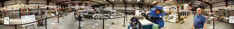 Panorama View of the Texas Air Museum's main bay