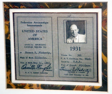 A 1931 private pilot's license signed by Orville Wright