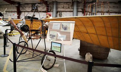 Katherine Stinson's Bleriot monoplane with wing-warping control.