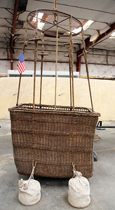 An original WW-I observation balloon basket