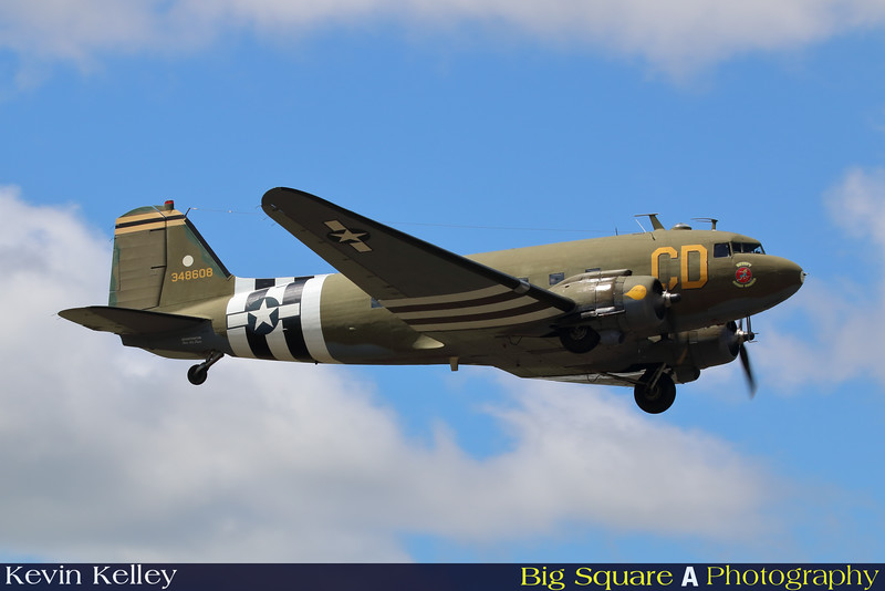 C-47 Betsy's Biscuit Bomber departs Oxford airport in Connecticut for a training flight before leaving for France and the 75th anniversary of D-Day remembrance.