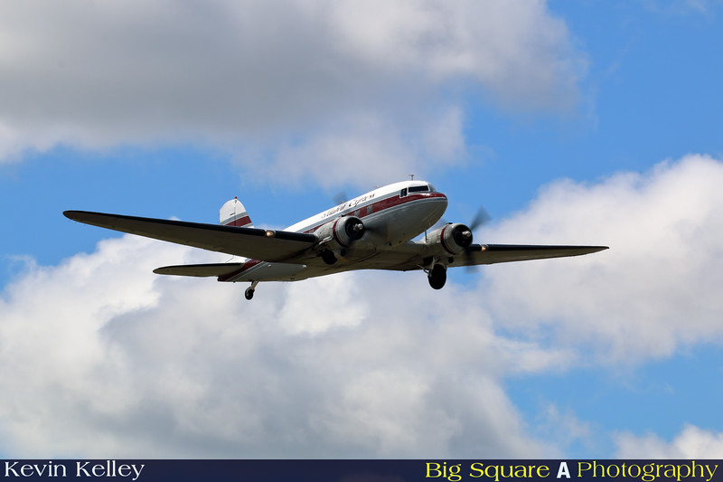 DC-3 Flabob Express departs Oxford airport in Connecticut for a training flight before leaving for France and the 75th anniversary of D-Day remembrance.