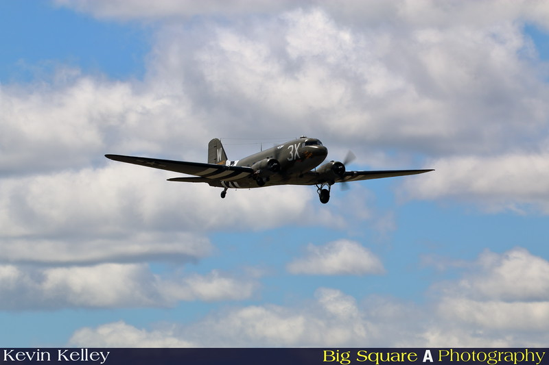 C-47 That's All Brother departs Oxford airport in Connecticut for a training flight before leaving for France and the 75th anniversary of D-Day remembrance.
