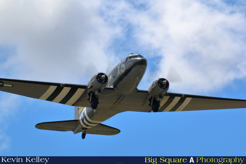 C-47 Virginia Ann departs Oxford airport in Connecticut for a training flight before leaving for France and the 75th anniversary of D-Day remembrance.