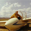 August 13, 1970 - Bill Jr. getting ready to lauch in Waverly West Glider Port's Schweitzer 1-26E sailplane.  Flew from Waverly West to Akron, CO for 100 Mile cross country flight - Silver Distance.