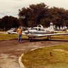 August 1982, Benton Kansas - Gary Steele, Bill Jr.'s flight instructor in front of Mooney M20F.  Bill Jr. flew this aircraft along with a G35 Beech Bonanza and a Cessna 1-72RG to obtain his Commecial Pilots Rating.
