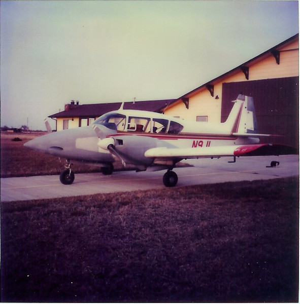 February 1983 - Benton Air Park, Benton Kansas.  1958 Piper Apache I received my Commecial Multi-Engine Rating in.  I flew out to Benton Kansas in the Mooney Mite.