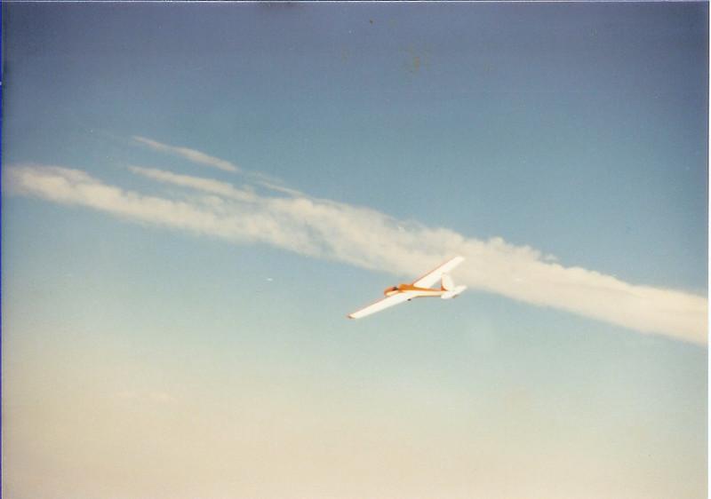 Another aerial shot of Bill Jr. flying his 1963 Schweitzer 1-26B, N2752R high over the desert floor - Estrella, AZ