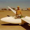 1978 - Scottsbluff, Nebraska - Bill Jr. in cockpit with Bill Sr. - getting ready for my first flight in dad's ship - Glasflugel 201B Libelle, GZ.