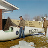 1966 - Bill Presoctt and John LeCoq moving the Ka-6CR fuselage from the shipping crate to the basement of our home in Longmont, CO.