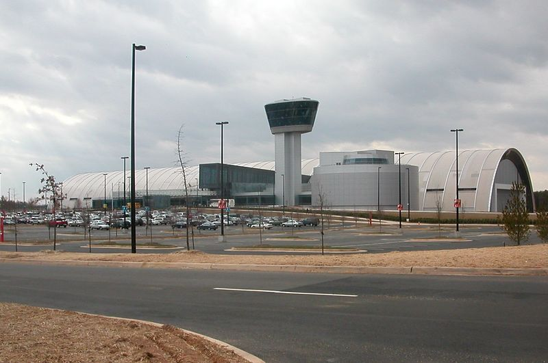 Main hanger and observation tower.