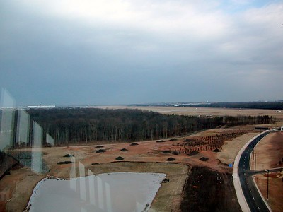 View of Dulles Airport from observation tower.