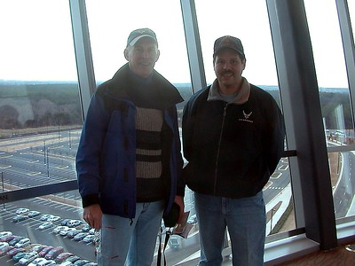 Kirk Denee and Emilio Astrada in observation tower.