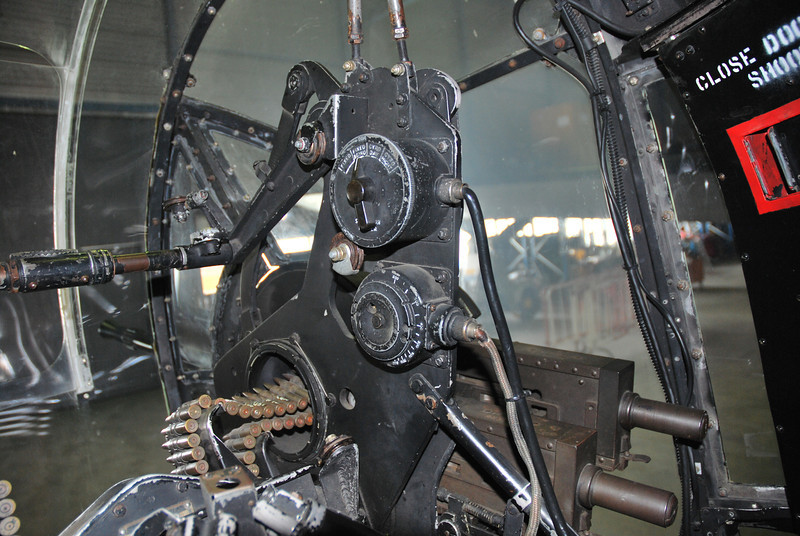 Aft turret gun gyro switch.