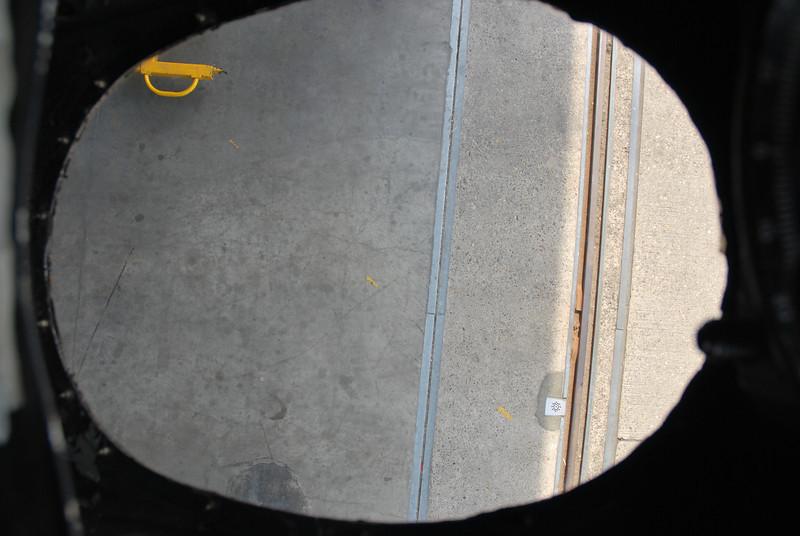 Lower bombardiers window.