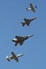Heritage Flight.  P-51 Mustang, F-16 Falcon, F-15 Eagle, A-10 Thunderbolt.