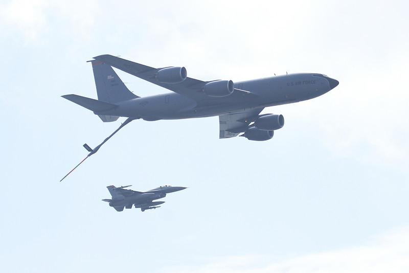 KC-135 Stratotanker and F-16