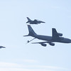 KC-135 Stratotanker and F-16 x2