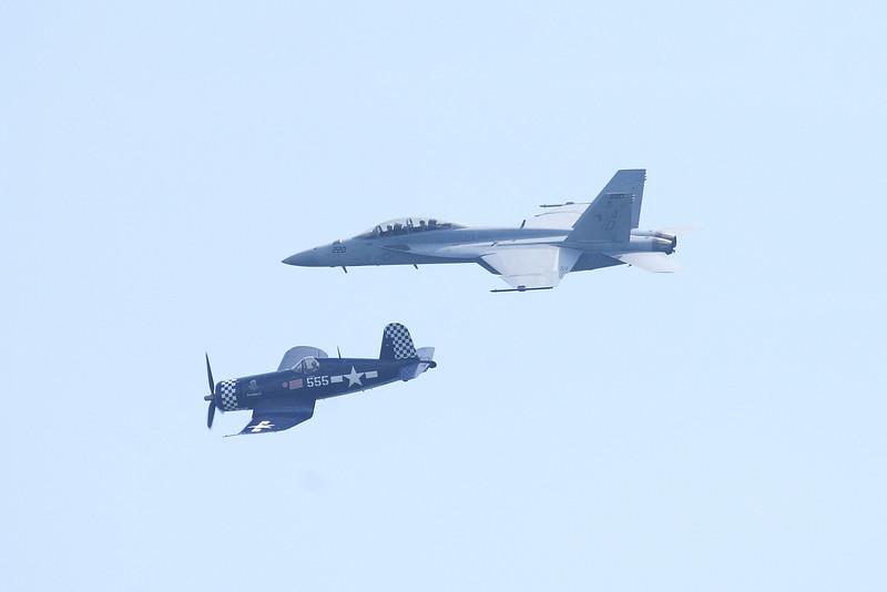 F/A-18 Super Hornet and F4U Corsair