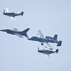 F-16, A-10, P- 51 x2