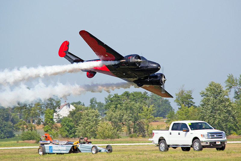 Matt Youlkin in the Twin Engine Beech 18 at Thunder in the Valley II