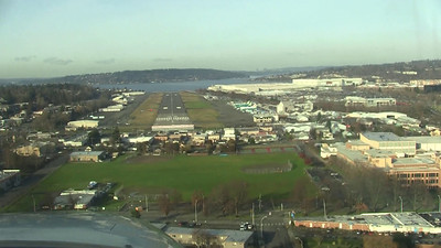 Landing in Renton.  Runway 34.  Forward slip to get to the glidepath. On the numbers!