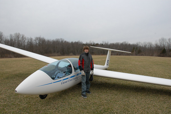 Tyler's first Glider Ride at CCSC